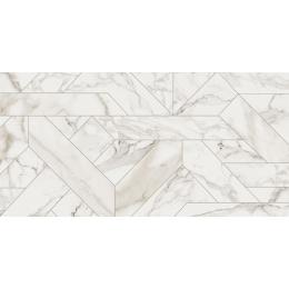 Carrelage sol et mur poli effet marbre Botticcino outline white 60*120 cm