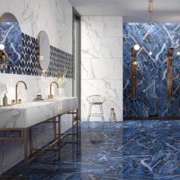 Carrelage sol et mur poli effet marbre Botticcino white beauty 60*120 cm
