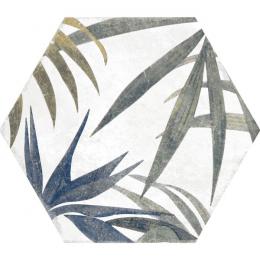 Carrelage sol et mur hexagonal Jungle decors aruba blanco 23*27 cm