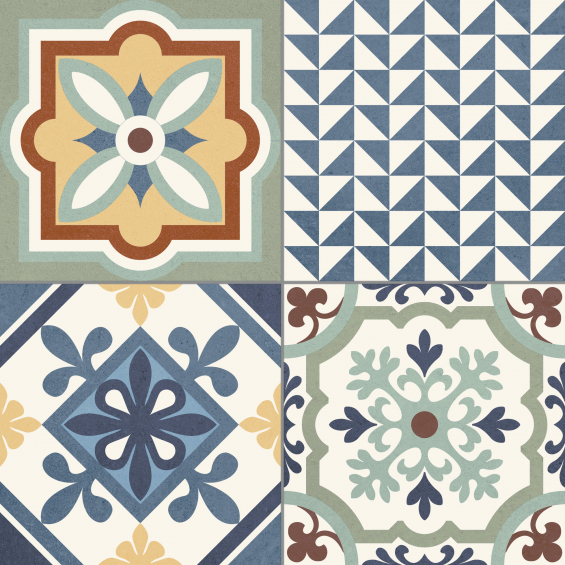 Carreaux ciment patchwork tradition mix