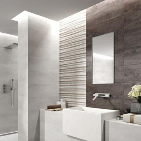 Carrelage salle de bain mur et sol - Carrelage noir brillant salle de bain ...