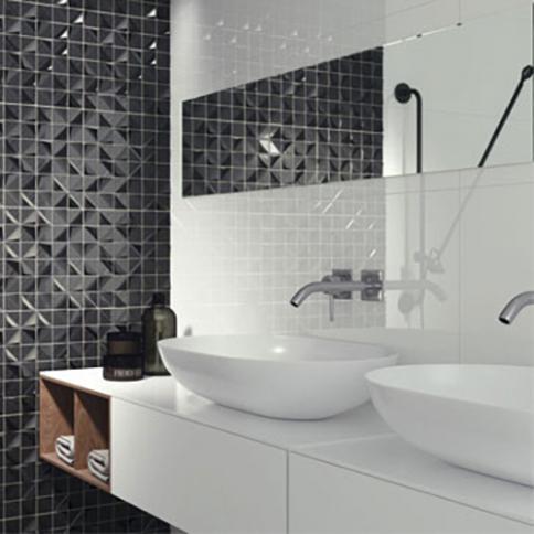 Carrelage de salle de bains Blanc (Mur et Sol) – Reflex Boutique